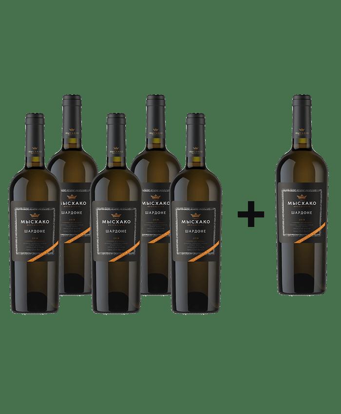 6 по цене 5! Вино Мысхако сухое белое Гевюрцтраминер